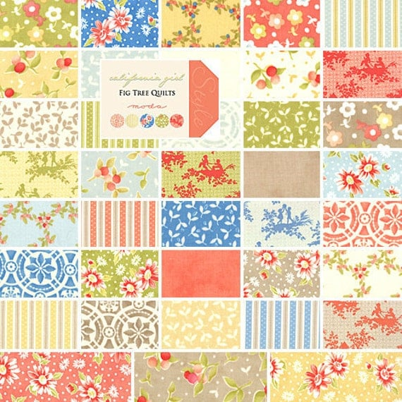Fig Tree Quilts California Girl 5 Charm Pack Fabric