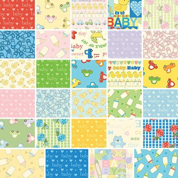 benartex baby talk 5 charm pack fabric quilting squares