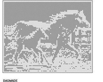 163 Colt Mare Running Filet Crochet Pattern Email