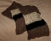Loom Knit Scarf - Chocolate Black Oatmeal