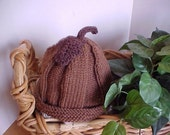 Acorn Hat Hand knit Five sizes available NB to 4 yrs size