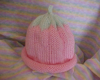 Pink Flower Hat Sizes NB to 4 yrs Handmade Handknitted