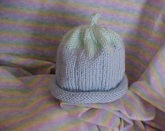 Baby Blue knitted  Hat  5 Sizes available NB to 4 yrs