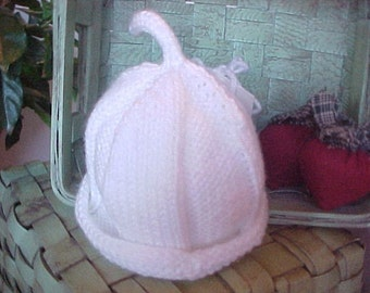 Little White Hat Knitted
