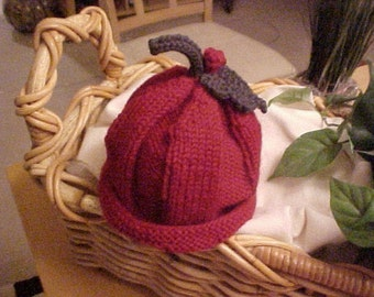 Holly Berry Hat  Knitted 5 Sizes Available NB to 4 yrs