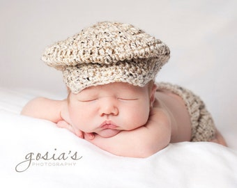 Lil Golfer Cap with matching Diaper Cover Newborn to 3 months,3 to 6 months, 6 to 12 months sizes available