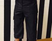 Navy pants, Menswear dark blue and black military dieselpunk pants - shorts, black shorts, navy shorts, mens shorts, military shorts, MASQ