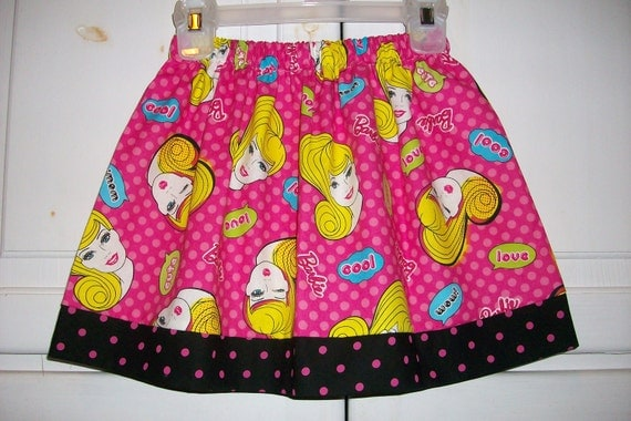 CLEARANCE Twirl Skirt BARBIE Hot Pink Black Dots size 3t
