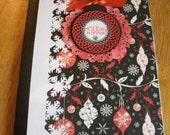 Handmade Altered Composition Book Holiday Theme
