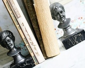 Jack and Jill - Vintage Pewter Figurine Bookends