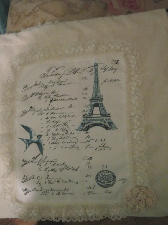 Handmade Gift Bag Paris Eiffel Tower ECS