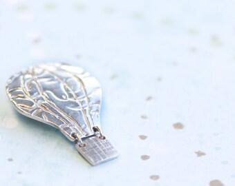 fine silver pendant, pmc, precious metal clay, drifting