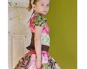 Custom Boutique Dandy Damask FAV Skirt set 12 mo-7 years LimeVine