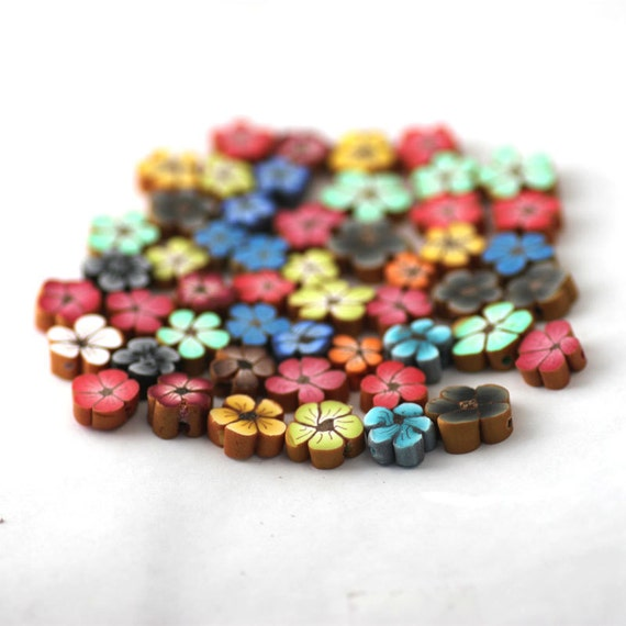 polymer clay bead mix