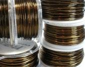 18 Gauge Antique / Vintage Bronze Wire 21 Feet - Brown Craft Wire for Jewelry Making
