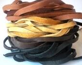 Deerskin Leather Lacing - 2 Yards each - Black, Brown, Saddletan, Buckskin