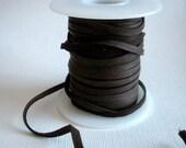 Chocolate Deerskin Lace - 50 Foot Spool - Brown Leather Lacing