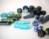 Large Hole Beads - Fun and Funky - 36 Pieces - Destash Lot