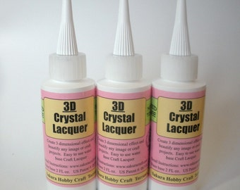 3d Crystal Lacquer - 2 Oz Bottle