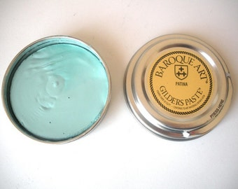 Gilders Paste - Patina Pool Blue for metal, wood, ceramics, polymer clay, bisque, candles, gourds, and more