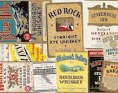 52 Different 1930's Plus WHISKEY/Gin/VODKA/Rye/LIQUOR Labels Etc...