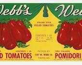5 Old Vintage TOMATO LABELS Milroy,King's,Monarch,Webb's,