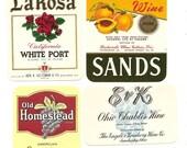 18 Old 1940's Plus WINE Labels.all U.S.,Virginia,OHIO Etc...