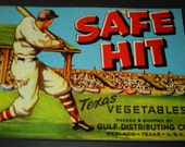 5 Old Vegetable Crate Labels