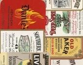 39 1940's Plus WHISKEY/Gin/VODKA/LIQUOR Labels Etc...
