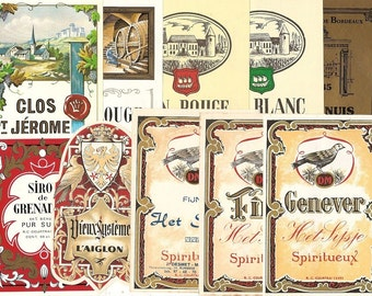73 DIFFERENT Old 1930's plus EUROPEAN Liqueur Labels