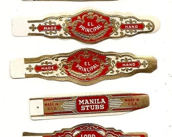 210 CIGAR BAND Labels -new old stock cigar bands