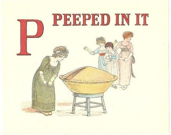 32 Old A Apple Pie PRINTS By KATE GREENAWAY