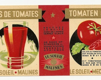 5 Old Vintage TOMATO LABELS Milroy,Jory,KING'S,Monarch,Le Soleil