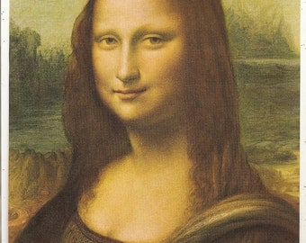 Old 1930's Mona Lisa  ART PRINT