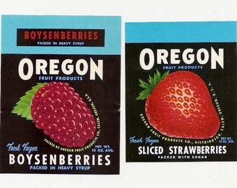 10 Different Old Vintage OREGON FRUIT LABELS