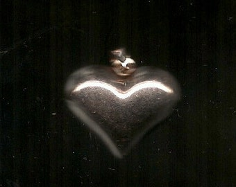 Old VINTAGE SILVER HEART Pendant