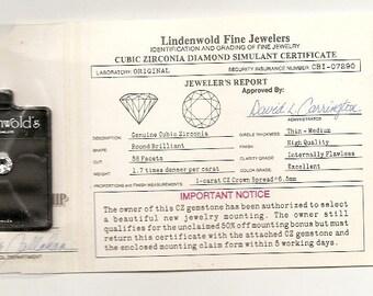5 Old Vintage CUBIC ZIRCONIA DIAMONDS