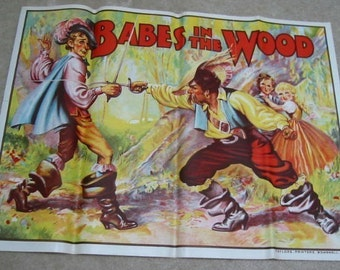 Original 1930's BABES In The Wood Theatre SHOW POSTER.