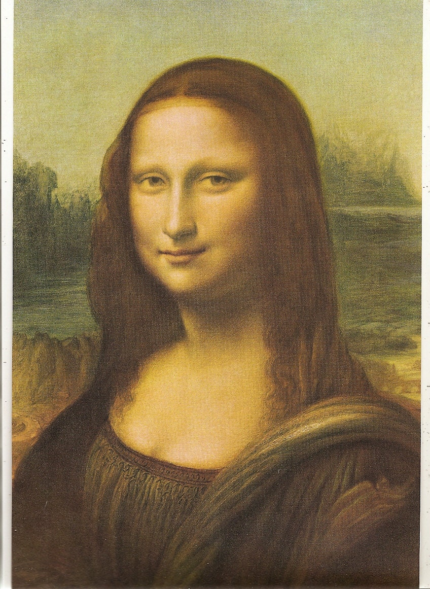 Old 1930 39 s mona lisa art print for Can you buy the mona lisa