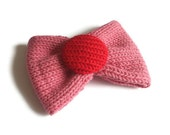 Bow Brooch - Pink and Red (Free UK Shipping)