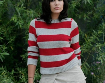 striped cashere sweater