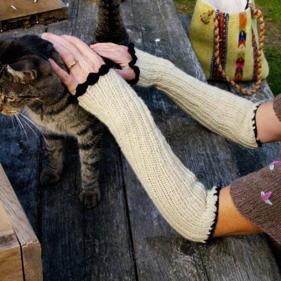 cashmere slouchy arm warmers