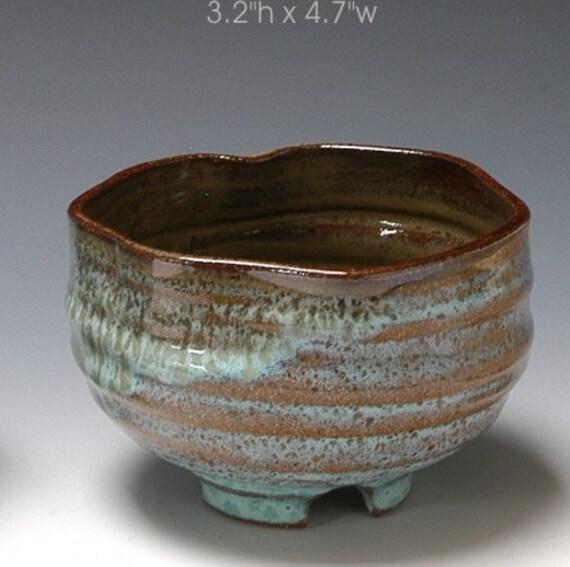 High fired tea bowl Chawan cup stoneware R Mello C176