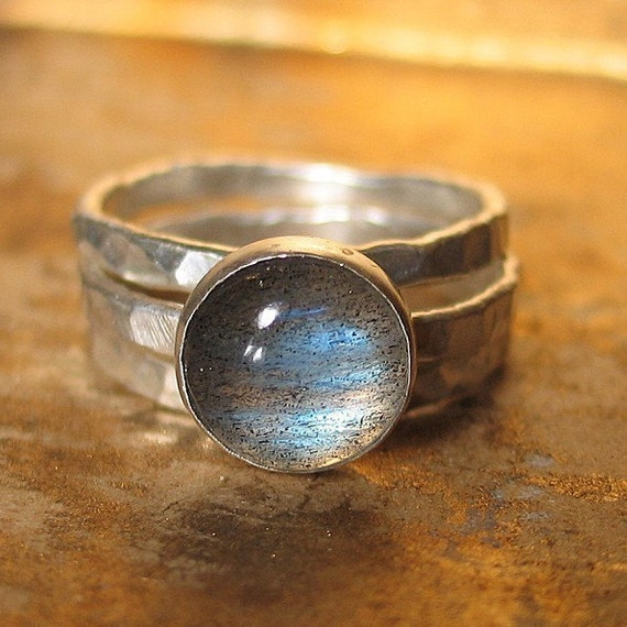 Mists of Avalon  - Stack of 3 Rings with Labradorite