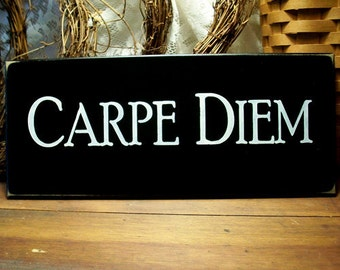 Carpe Diem Wood Sign Wall Decor Seize the Day Wall Art Inspirational