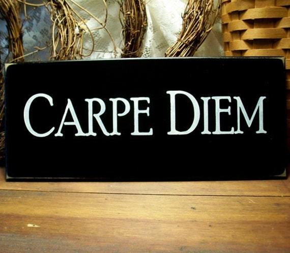 carpe diem wood sign wall decor seize the day wall art