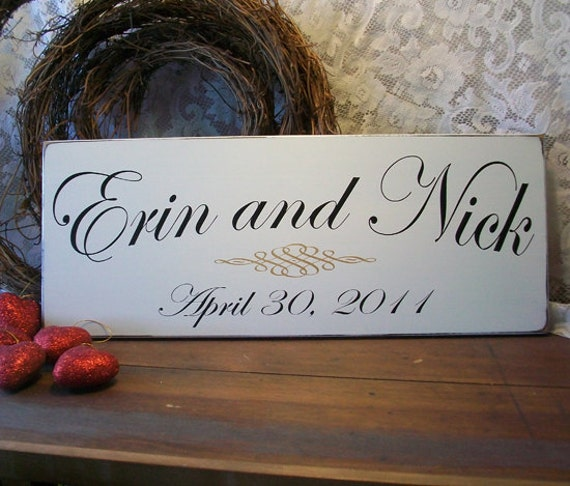Custom Wedding Sign Bride and Groom Personalized Established Wedding or Anniversary Wood Sign