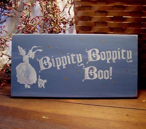 Fairy Bippity Boppity Boo Wood Sign Painted