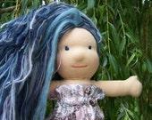 Waldorf Doll Wig - Silvery Blue