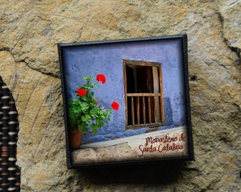 "Mini Canvas Magnet - ""Santa Catalina Monastery"" Peru"